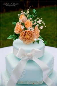 floral wedding cake 5