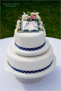 floral wedding cake 6