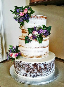 Naked Wedding Cake - 5