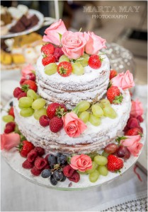 Naked Wedding Cake - 1